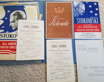 Leopold Stokowski 1940s Concert Travel Materials