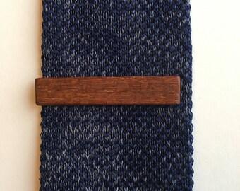 Leopard Wood Tie Clip
