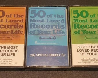 50 Of The Most Loved Records OF Your Life Audio Cassettes 1-3