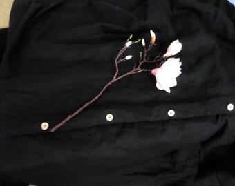 Black linen Set:2pillowcases+duvet cover Natural flax Handmade Linen Bedding Linen black duvet cover queen set Full Double Twin Single size