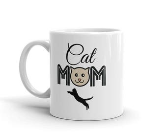 11 oz Coffee Mug: Cat Mom