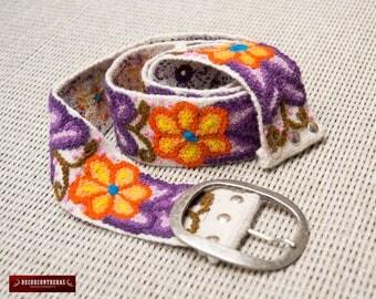 """Womens belts 49"""" Long - Embroidered belt """"Exotic Birds"""" - Sheep wool embroidery - Peruvian belts - womens belt - Waist belt - Gift for Women"""