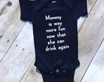 Mommy More Fun Newborn Outfit/ Infant Outfit/ Baby Outfit/ Toddler Outfit