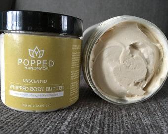 Body Butter, Whipped, Shea Butter, Kokum Butter, Mango Butter, Natural, Handmade, Coconut Oil, Organic, Unscented