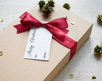Merry Christmas Gift Tag Set Of 6, Printable Gift Tags, Instant Download, Christmas Printable, Gift Tag, Set of 6, Printable Art, Digital