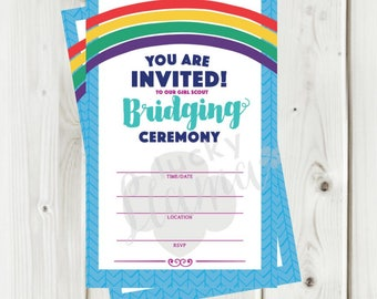 Girl Scout Bridging Invitation/flyer - Instant Download