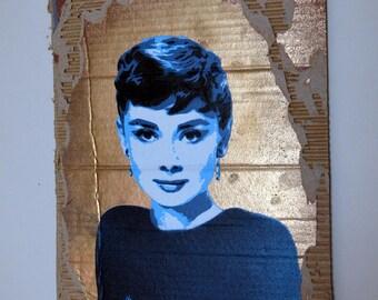 Audrey Hepburn Stencil spray paint