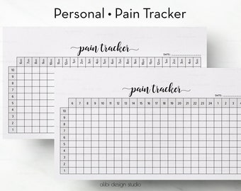 Pain Tracker, Personal Planner, Health Planner, Printable Planner, Planner Tracker, Personal Inserts, Health Tracker, Personal Filofax
