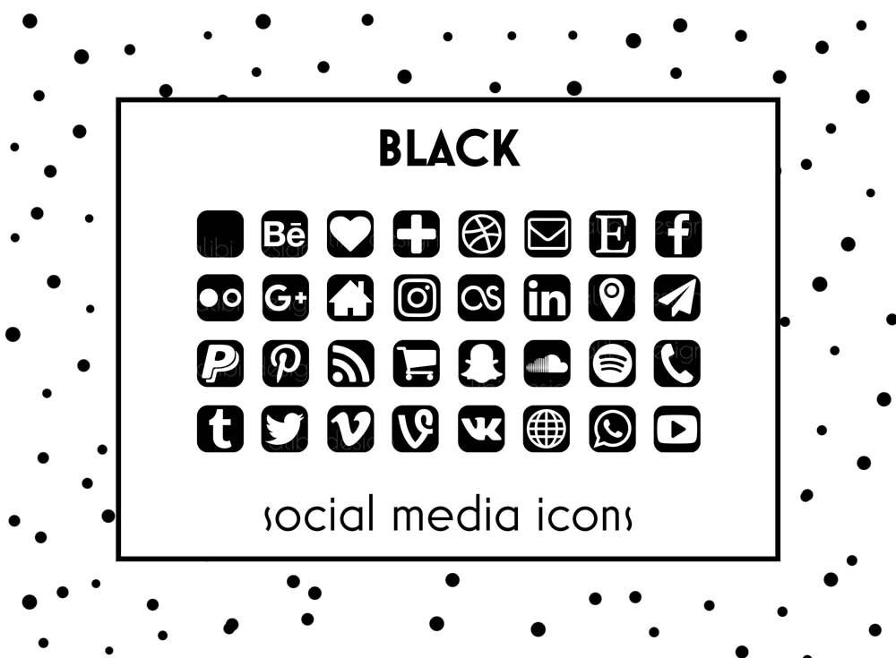 social media icons black icons black button social icons. Black Bedroom Furniture Sets. Home Design Ideas