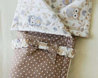 Baby blanket,cotton blanket,owl pattern,baby bedding,minky baby blanket,baby shower gift,stroller blanket,swaddle blanket