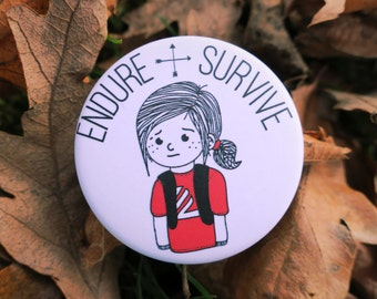 The Last of Us Ellie Badge Endure & Survive Naughty Dog Pin PS4 PlayStation PS3
