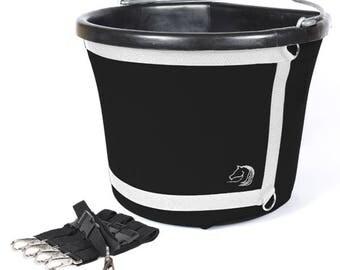 Feed Bucket Holder; Buck-it! Covers fit the 8L & 20L Flat Back Buckets
