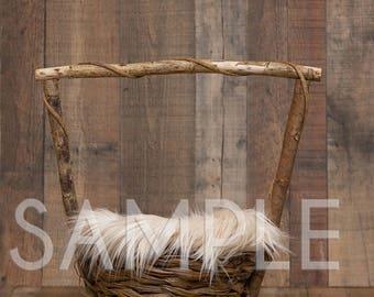 Newborn digital backdrop - Newborn digital background -wishing well newborn basket - Newborn digital backdrop - Newborn digital prop