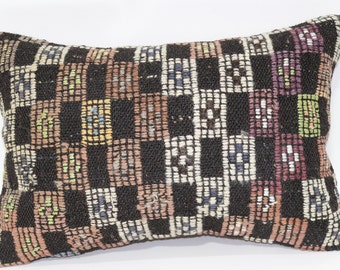 Embroidered Kilim Pillow Throw Pillow Sofa Pillow 16x24 Bohemian Kilim Pillow Decorative Kilim Pillow Home Decor Cushion Cover SP4060-356