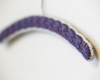 Crocheted Hanger - Amethyst Series