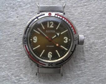 Vintage  Watch VOSTOK AMPHIBIAN Diver 200M AMFIBIA - Serviced
