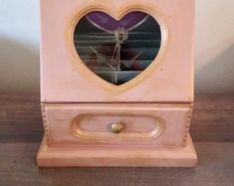 Gold and Pink Jewelry Box