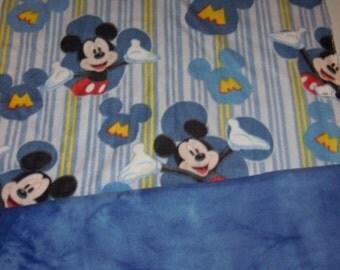 Mickey Mouse Blanket - Fleece Blanket - No Sew - Hand Tied - Tie Blanket - Fleece Tie Blanket