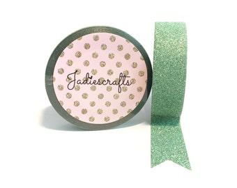 Chrysolite Glitter Washi Tape | Green