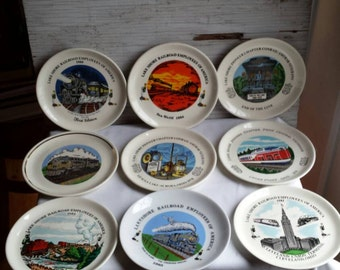 18 Vintage Railroad Plates. 17 are Lake Shore Collector Plates with 1 plate being a New York Central Locomotive Plate. Excellent condition