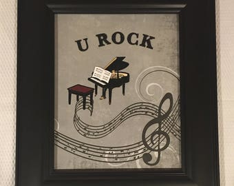 U Rock Piano Music Notes