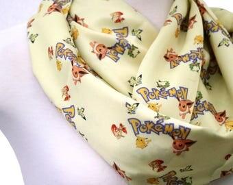 Pokemon gift pokemon scarf valentine gift yellow infinity scarves Pokemon Ball Cowl Pokemon go Pikachu Neck Warmer Anime Geek birthday Gifts