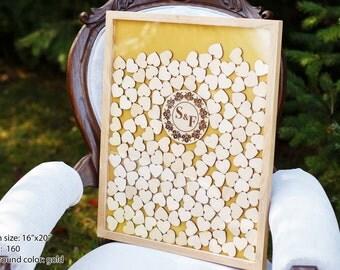Guest Book Alternative Wedding Guestbook Rustic Guest book Wedding Guest Book Alternative Unique Wedding Guest book sign Heart Drop box