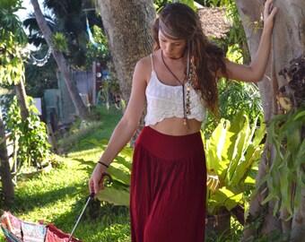 Boho Maxi Skirt | Red Maxi Skirt | Boho Maxi | Winter Skirt | Summer Skirt | Nice Long Skirt | Boho maxi | High Waisted Skirt | Boho