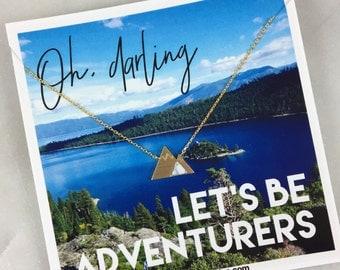 Travel, wanderlust, journey, traveler, mountain, adventure, oh darling, let's be adventurers, white marble, travel gift, grad, graduation