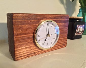 Block Style Mantle Clock (Different Styles Available!)