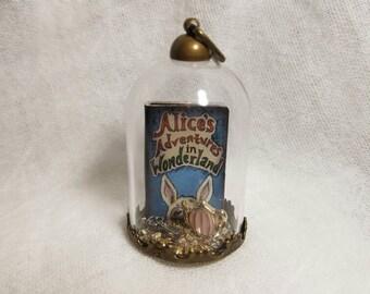 Alice In Wonderland Book Terrarium Pendant