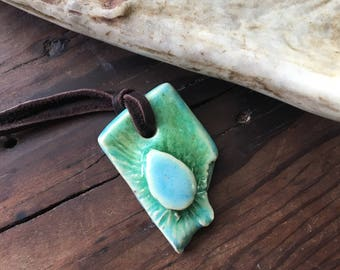Small green and blue pendant