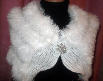 Wedding bolero, Bridal Bolero, Winter Wedding, Bridal Cover up, Bridal Shawl, Crochet bolero, Bridal shrug bolero,White bolero Angora bolero