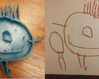 Turn your kids doodles and drawings into 3D Prints