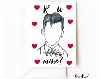 Alex turner valentines card