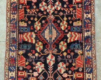 antique persian bakhtiari tribal rug 4u00270 x 6u00276 121 x