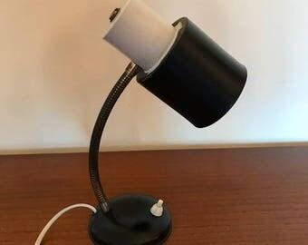 vintage desk light / bedside lamp / mid century / black / retro design