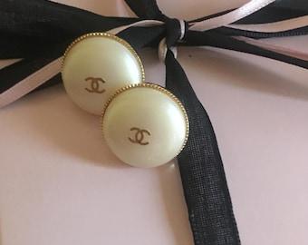 Wow  SALE Chanel earrings Designer  earrings pearl earrings  18mm pearl earrings Chanel inspired earrings