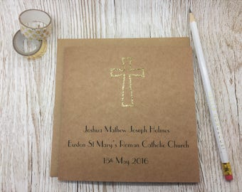 Personalised Holy Communion Card - First Holy Communion - Confirmation Card - Personalised Christening Card - Card for First Communion