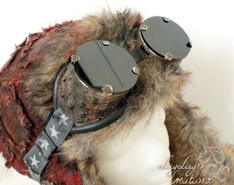 Post apocalyptic rusty glasses with rausnehmbaren glass (Madmax, fallout, postapocalyptic, apocalyptic, goggles, rust, cosplay, gothic)