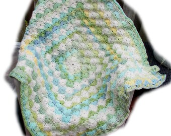 Catherine Wheel baby blanket -- Ready-to-ship