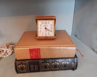 Seth Thomas Wind-up Portable Alarm Clock, Folding alarm clock
