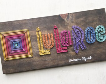 Clothing boutique consultant Wooden Sign - rainbow Colors - Handmade - String Art - clothing Boutique - clothing Popup - Photo Prop