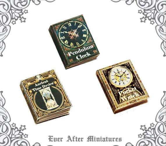 POCKET WATCH Dollhouse Miniature Book