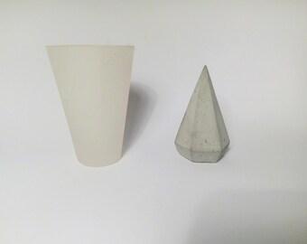 Silicone Mold Pyramid Diamond Geometric mould concrete plaster candle