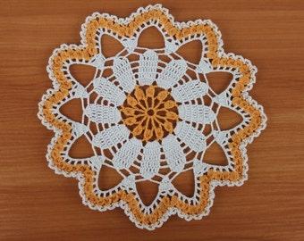 Gift for her Gift ideas Daisy crochet doily Daisy crochet table decor Summer crochet doily Placemats Cotton crochet doily Daisy doilies