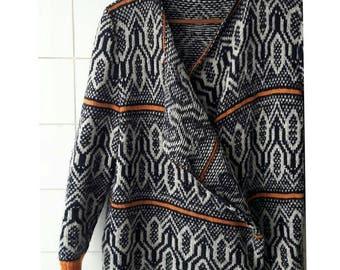 jacket with geometric motifs