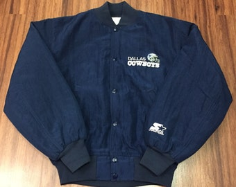 Vintage Dallas Cowboys Starter Jacket Authentic Pro Line Rare NFL Football 1990's Size Small