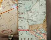 Passport Wallet - Travel Document Holder - Boarding Pass Holder - Traveler Wallet - Travel Gift- Nerd - Geek - OOAK - Custom Order