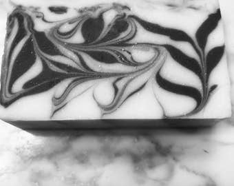 Satisfaction-Activated charcoal and goats milk soap
